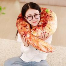 1 шт. моделирование пищевая жареная подстилка поросенок треска плюшевая подушка плюшевая Мясо креветок Saury Perch Подушка творческие подарки LYDBAOBO 32888095551