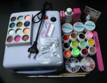 Полный набор 12 цветов набор гель uv Кисть Nail Art Набор + 36 Вт лечебная ультрафиолетовая лампа комплект сушилка SI-76 Tipart 32750713585