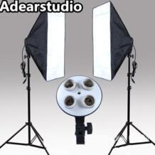 Комплект фотостудии для фотосъемки 2 шт. * 4 патрон лампы 2 шт. * софтбокс для фотографий свет непрерывный световой софтбокс комплект no00dc CADeN 1466704128