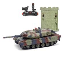 HUANQI 550B Р/У танки гусеничный ИК-пульт дистанционного Управление игрушки 1:24 Масштаб моделирование ИК rc боевой танк игрушка RC подарки для автомобиля дети No name 32759225296