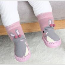Домашние носки для малышей; обувь новорожденного; носки; зимние толстые махровые хлопковые носки для маленьких девочек с резиновой подошвой; забавные носки для младенцев с животными Buddinfant 32836271087
