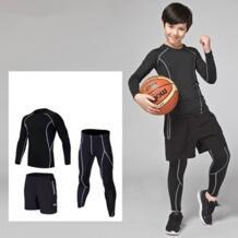 Комплект детской одежды из 3 предметов: компрессионный базовый слой Бег комплекты survetement Американский Футбол Баскетбол Футбол Обучение Штаны Шорты спортивные лосины Леггинсы HAMEK 32814691462
