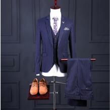 Na32 плюс размер groomtuxedo синий с белый полосатый индивидуальный заказ Нарядные Костюмы для свадьбы для Для мужчин groomtuxedos Для мужчин S Нарядные Костюмы для свадьбы No name 32833753668