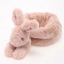 Aeruiy Симпатичные мягкие мультфильм животных белый/розовый уютный плюшевый кролик нагрудник шарф для детей и взрослых, теплая одежда Интимные аксессуары подарок No name 32856619302