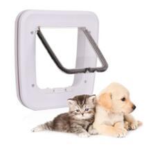 Pet автоматическое закрывание двери pet Безопасный 4 Way Блокировка снаружи межкомнатной двери для Товары для кошек Товары для собак No name 32840642201