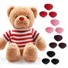 12*14 мм Пластик Треугольники бархат носы, кнопки Глаза DIY для игрушечный медведь DIY безопасности аксессуары для носа для кукол игрушек SIRENXI 32952574101