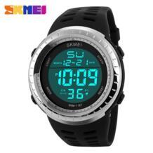 Новинка 2018 года бренд для мужчин спортивные часы светодио дный светодиодный цифровой Военная Униформа часы погружения плавание открытый водонепроница... SKMEI 32656848494