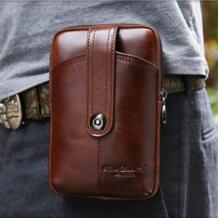 Новая мужская винтажная поясная сумка из натуральной воловьей кожи на кнопках, поясная сумка для мобильного телефона/телефона-in Поясные сумки from Багаж и сумки on Aliexpress.com | Alibaba Group gold coral 32485310972