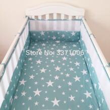 2 шт. дышащий хлопок предотвратить падение Детские бортики кроватки детские забор безопасности для постельных принадлежностей кровати для новорожденных бамперы 120*30 см No name 32845619129