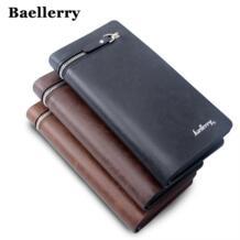 Мужской кошелек наивысшего качества, мужской клатч, большая емкость, сумка для мобильного телефона, искусственная кожа, на молнии, карманные держатели для карт, мужской кошелек, длинный baellerry 32518681609