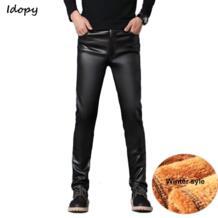 PU брюки из искусственной кожи мужские ветрозащитные водонепроницаемые мотоциклетные байкерские бизнес мужские брюки эластичные кожаные облегающие брюки плюс размер-in Кожаные штаны from Мужская одежда on Aliexpress.com | Alibaba Group Idopy 32954036938