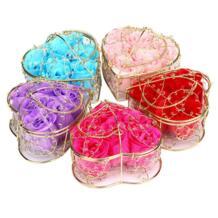 Случайное сердце Ароматическая ванна тела Лепесток мыло с розой Свадебные украшения kanbuder 32869935214