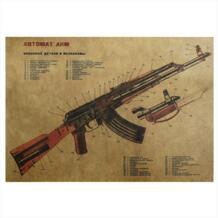 Винтажная бумажная наклейка в военнгом стиле крутой пистолет фигурный Плакат Наклейка для мальчиков JJOVCE 32730197558