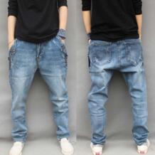мужские мешковатые шаровары стрейч большого размера джинсы мужские с кнопками свободные хип хоп джинсы ковбойский стиль джинсовые M 6XL-in Джинсы from Мужская одежда on Aliexpress.com   Alibaba Group YEHAN 32560708567