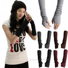 Женщины \ x27s теплые связан из шерсти перчатки без пальцев зимние варежки вязаные половина палец манжеты Перчатки длинные женские варежки перчатки без пальцев Favolook 32740423781