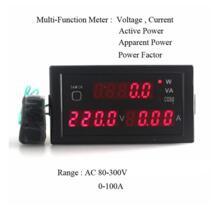 Многофункциональный светодиодный Дисплей Панель Вольтметр Амперметр активных и очевидно Мощность фактор AC80-300V/200-450 В 0-100A DESDQCN 32806860882