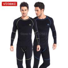 Veobike Для мужчин Спорт на открытом воздухе Термальность комплект нижнего белья зимние теплые длинные Для мужчин термо белье Топ и штаны Велоспорт базовых слоев No name 32833774287