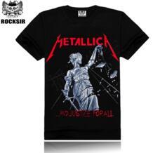 2017 Metallica принт Мужская футболка мужская футболка Metallica летние топы футболки футболка рок хип-хоп Футболка известная брендовая одежда Rocksir 32334312287