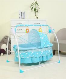 2018 новые детские Колыбели кровать Электрический складной новорожденных кровать с Сетки от комаров синий/розовый детская спальная корзина Колыбели No name 32853185568