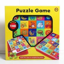100 шт. пуговицы Творческий игра-головоломка учится сочетать цвета для завершения фотографии Развивающие игрушки для детей No name 32871697004