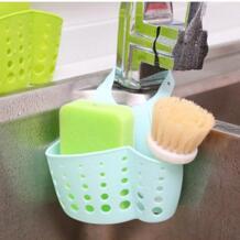 Подвесная корзина для ванной комнаты аксессуар кухонный Органайзер Регулируемый оснастки Раковина Губка подвесной стеллаж для хранения держатель для хранения OUSSIRRO 32782097226