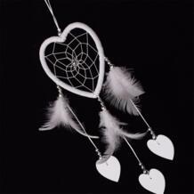 Mayitr белый Ловец снов маленький сердце стене висит Ловец снов с пером для дома и сада декор автомобилей куранты No name 32879742210