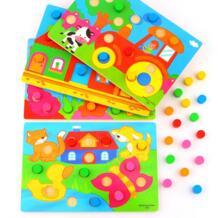 Обучающие игрушки монтессори цвет познавательная доска для детей деревянные игрушки головоломки раннего обучения цвет матч Игра Brinquedos FREECOLOR 32902641695