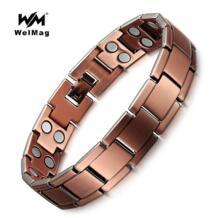 Винтаж медный Магнитный браслет для Для мужчин/Для женщин 2 ряда магнит био исцеляющая энергия Модная бижутерия браслеты мужской браслет WelMag 32815930423