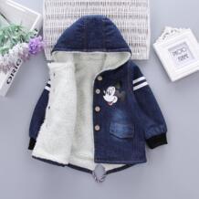 Зимние куртки для маленьких мальчиков, хлопковые зимние пальто для девочек, детские утепленные бархатные парки, детские куртки для мальчиков, верхняя одежда ExactlyFZ 32961697740