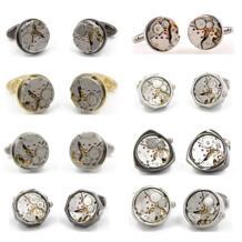 Скидочная Акция Non-функциональные часы запонки из нержавеющей стали 12 дизайнерские запонки для мужчин, подарочные запонки оптом LEPTON 32460245742