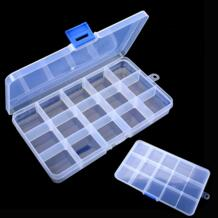 17,4 см X 9,9 см 15 балок прозрачный пластиковый отсек Регулируемый органайзер для хранения ювелирных изделий коробки Уплотнение органайзер для бисера случае кухни No name 32845204669