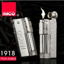 Оригинальный Австрия IMCO 6700 марка металла Винтаж Ретро керосин и Бензин Зажигалка, для мужчин's Авто прикуриватели, необычные зажигалки No name 32416719094