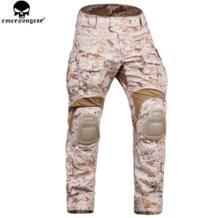 Emersongear армейские брюки с наколенниками тактические брюки Airsoft Армия охотничьи брюки Камуфляжный костюм Aor1 No name 32853855956
