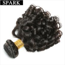 """бразильский бодрый пучки вьющихся волос человеческих волос Weave 8 """"-26 дюймов 1/3/4 шт Волосы remy Расширения Natural Цвет могут быть окрашены Spark 32808759247"""