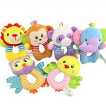 Милая плюшевая детская игрушка детский подарок в форме животных, колокольчики для рук, кольца-погремушки, детские плюшевые мягкие игрушки, скидка 20% JJOVCE 32776204814