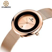 7 мм Роскошные Брендовые женские кварцевые часы Relogio Feminino цвета розового золота Женские часы-браслет модные повседневные наручные часы из нержавеющей стали Starking 32742221934
