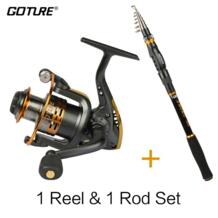 Goture стержень комбо меч телескопическая удочка 2,1-3,6 м + GT3000S спиннингом 6BB для лета рыболовные снасти лучшая цена катушки стержня No name 32722085116