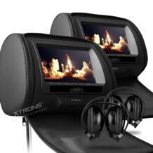 """Xtrons монитор черный 7 """"цифровой Экран молния подголовник автомобиля dvd-плеер usb fm диск с игрой удаленного Управление + 2 шт. ИК Беспроводной наушники No name 1999434269"""