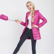 2019 Новое Женское пальто зимняя куртка женская пуховая верхняя одежда ультра-легкая Длинная Элегантная верхняя одежда модная пуховая хлопковая куртка VXO 32694761871