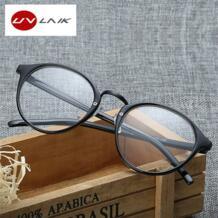 Модные оптические очки кадр очки с прозрачного стекла для мужчин и женщин бренд Круглый прозрачный женские очки кадров UVLAIK 32520448596