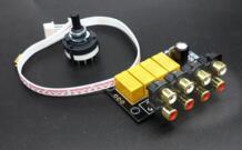 Аудио переключения доска 4 Выберите 1 аудио Вход сигнала selector реле доска DIY Kit No name 32721042547