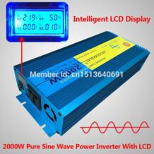 LCD DISPLAY Car High frequency power inverter 2000w 2KW 2000Watt Pure Sine Wave DC 12V TO AC 230V Converter For Solar/wind/gas-in Инверторы и конвертеры from Товары для дома on Aliexpress.com | Alibaba Group IPOWER 32346758617