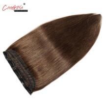 Coogina Для женщин парики 5 клип в Одна деталь Пряди человеческих волос для наращивания прямые 18-22 дюймов 10 цветов бразильский Волосы remy расширение No name 32870104733
