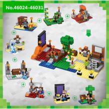 Строительный блок Minecrafte 46024-46031 модель Ниндзяго Дракон блоки, совместимые Legoed кирпича игрушки для детей No name 32915150118