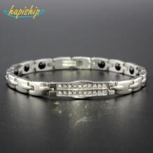 Модный магнитный браслет для женщин титановая сталь забота о здоровье GermaniumTG4606 Hapiship 32818398078