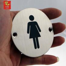 HI-Q знак двери Таблички Туалет плиты Для женщин знаки Нержавеющаясталь двери табличка офисные wc пластину двери вывеска проектов аппаратные средства No name 32646851432