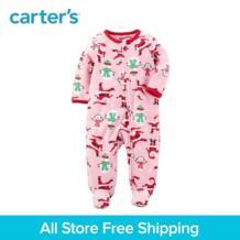 Carter's/1 из 2 предметов для маленьких детей детская одежда девушка Весна-осень Fleece Zip-Up Рождество Sleep & Play 119G268 No name 32850846240