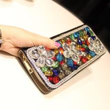 Красочные цветы с кристалалми и стразами роскошные пикантные средства ухода за губами поцелуй по индивидуальному заказу модные черны ENJOININ 32626303116