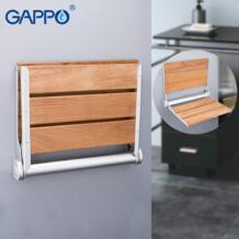 GAPPO настенное сиденье для душа настенный стул для ванной складной для Ванной сиденье дерево и Скамья из алюминиевого сплава стены No name 32946646083
