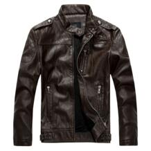 Новое поступление высокое качество искусственная кожа овчины куртка Для мужчин мотоциклетные замшевые куртки jaqueta couro осень-зима платье Для мужчин No name 32214413557
